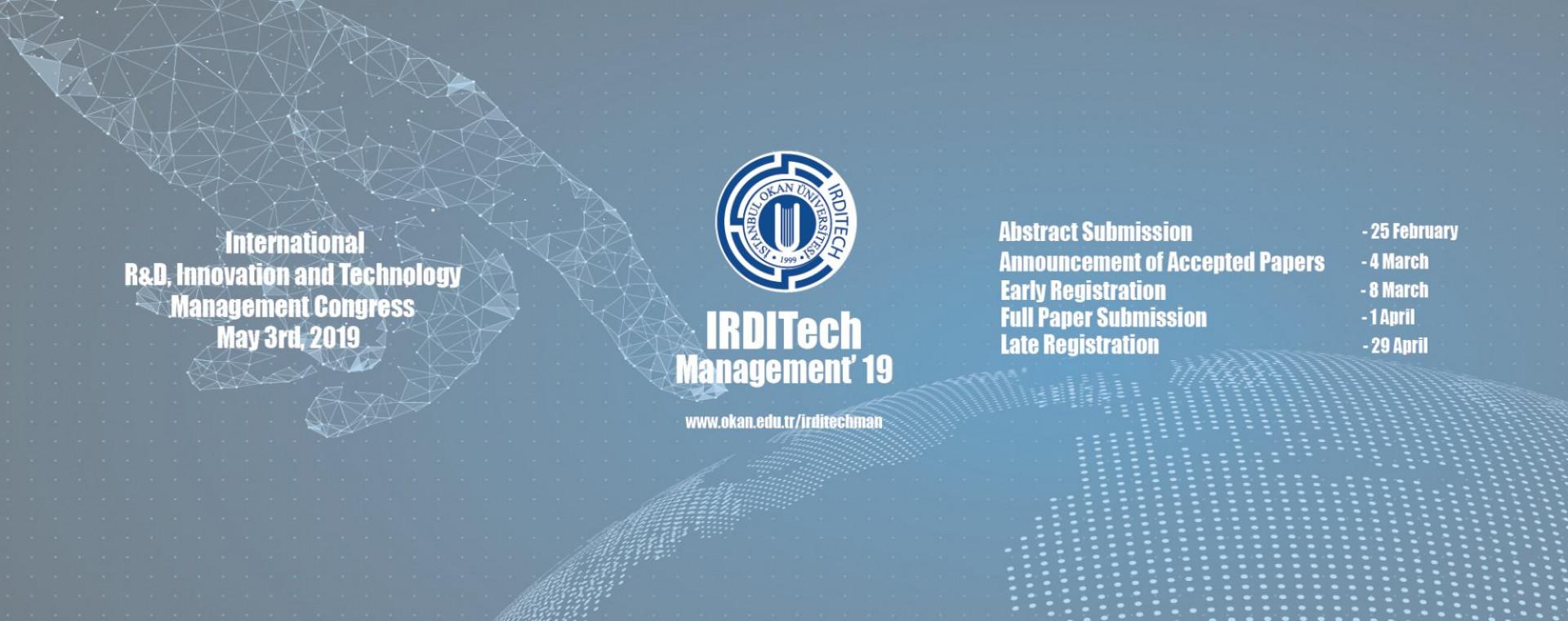 Workshop Program - IRDITech Management 2019 - İstanbul Okan Üniversitesi